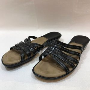 Cole Haan Nike Air black strappy leather sandals